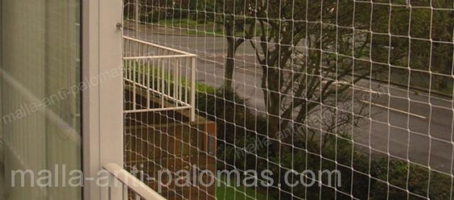 instalación de malla en balcón